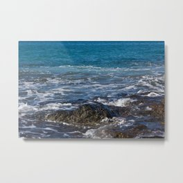 rock in the waves Metal Print
