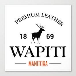 Manitoba Premium Leather Canvas Print