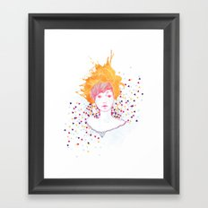 Curlycup Gumweed Framed Art Print