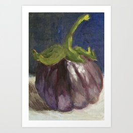 My Little Round Aubergine Art Print