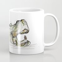 hippo Mugs featuring Hippo by Ursula Rodgers