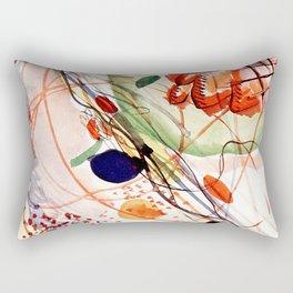 Wassily Kandinsky - Aquarell print in high resolution by Wassily Kandinsky (1866–1944), litograph print Bauhaus Rectangular Pillow