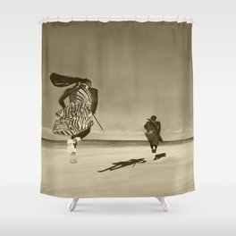 Jumping Happy Togetter Shower Curtain