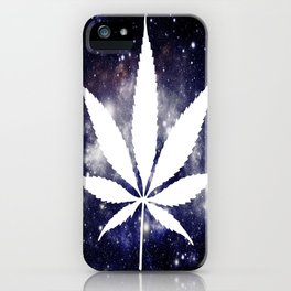 Weed : High Times Navy Blue Galaxy iPhone Case