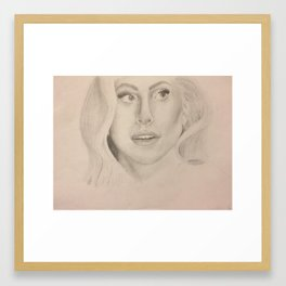 Lady G - By Diana Guerrero Framed Art Print