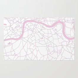 London White on Pink Street Map Rug