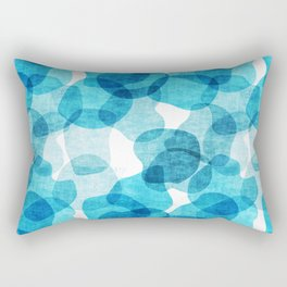 Large Blue Bubbles Pattern Rectangular Pillow