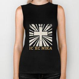 IC XC NIKA Cross T-Shirt Eastern Christian Greek Tee Shirt Biker Tank