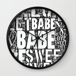 My Sweet Babe Wall Clock
