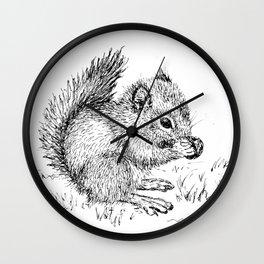 Baby Squirrel Wall Clock