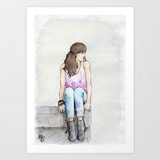 Punky Géraldine Art Print