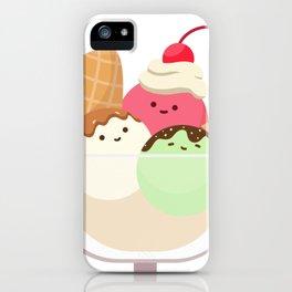 Happy Ice Cream Sundae iPhone Case