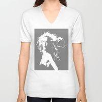 britney V-neck T-shirts featuring Pretty Britney by Dora Birgis