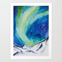 Green Lights  Art Print