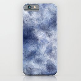 Navy Watercolor Fog iPhone Case