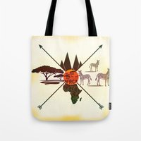 africa Tote Bags featuring Africa by famenxt