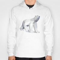 polar bear Hoodies featuring Polar bear by Marta Olga Klara
