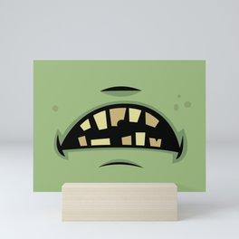 Zombie Frankenstein Monster Mouth Mini Art Print