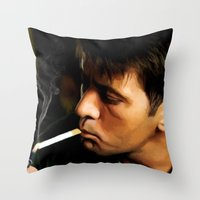 apocalypse now Throw Pillows featuring Apocalypse Now Painting #1 by Gabriel T Toro