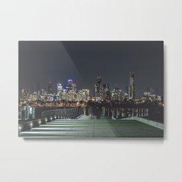 Skyline of Melbourne Metal Print