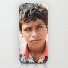Indian Boy in Jaisalmer, Rajasthan, India | Travel Photography | iPhone Case