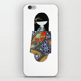 Emiko Blue iPhone Skin