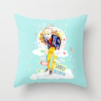 shinee Throw Pillows featuring SHINEE JONGHYUN by Haneul Home