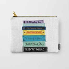 Hogwarts Stack of Wizardly Books Carry-All Pouch