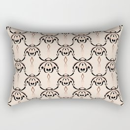 Black, beige, brown pattern in art Deco style. Rectangular Pillow