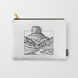 Monument Valley Hand Drawing Carry-All Pouch