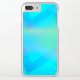 Teal Wave Clear iPhone Case