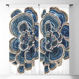 Blue Trametes Mushroom Blackout Curtain