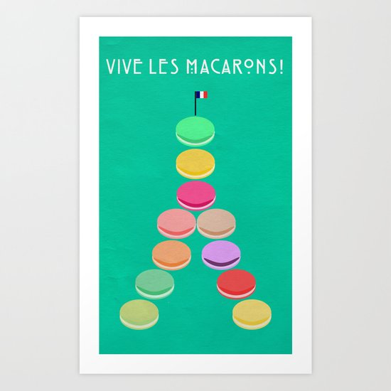 Baker's Joy Collection: Macaron Eiffel Tower Art Print