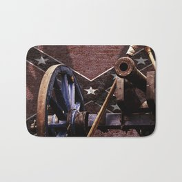 Confederacy Cannon And Flag Bath Mat