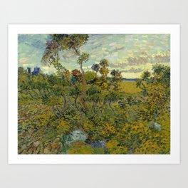 Vincent van Gogh - Sunset at Montmajour Art Print