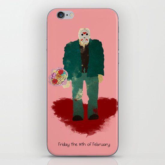 Friday the 14th of February (Monsters in Love) iPhone & iPod Skin