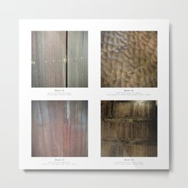 Materials - The beauty of wood Metal Print