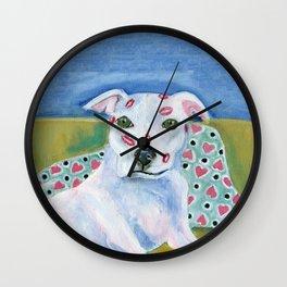 Kissy Face/ Pitbull love Wall Clock