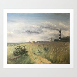 Phare, le Bree Les Bains Art Print