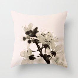 Blossoms Monochrome Throw Pillow