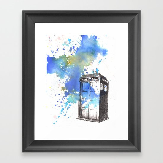 Doctor Who Tardis Framed Art Print