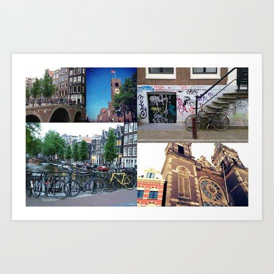 Photo collage Amsterdam 4 Art Print