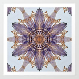 Passion Flower Mandala Art Print