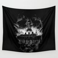 notorious Wall Tapestries featuring Ghost Ship by Joshua Kemble