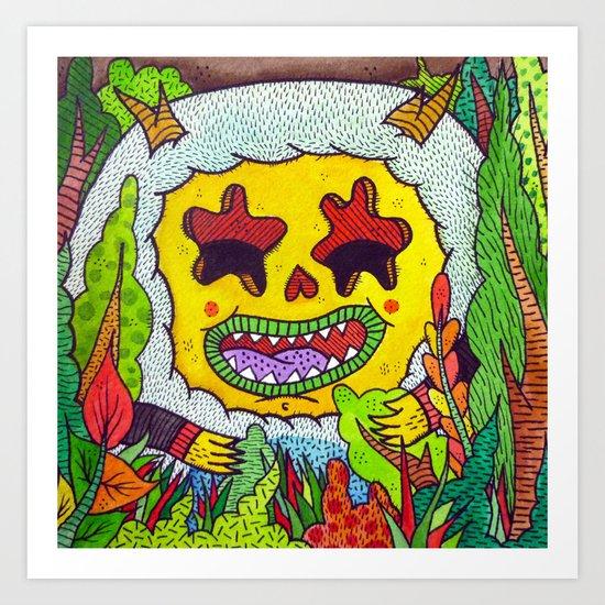 Wild Eyes Art Print