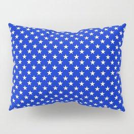 White Stars on Cobalt Blue Pillow Sham