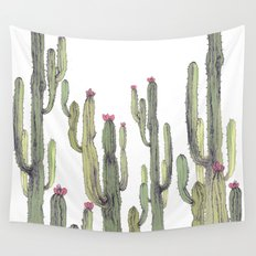 cactus in nature Wall Tapestry