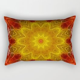 Autumn Leaves Kaleidoscope Rectangular Pillow