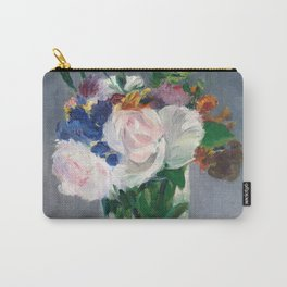Edouard Manet - Flowers in a Crystal Vase Carry-All Pouch