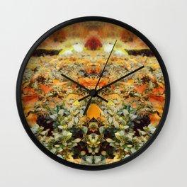 A Hint of Fall Colors Wall Clock